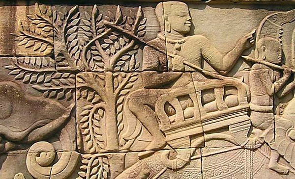 Angkor Wandrelief Kambodscha