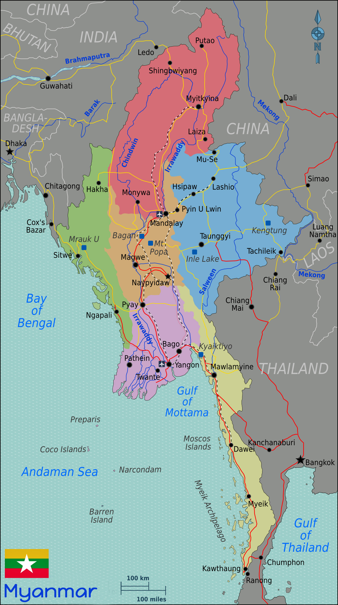 Vietnam Tours Map Myanmar Quelle Wikitravel