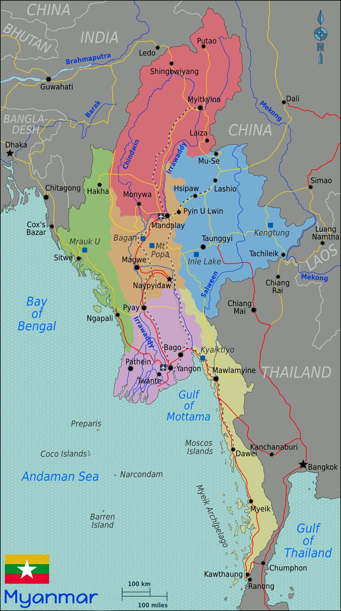 Vietnam Tours Map Myanmar Quelle Wikitravel
