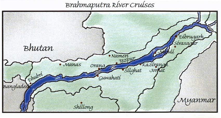 Indien Bootstour Brahmaputra